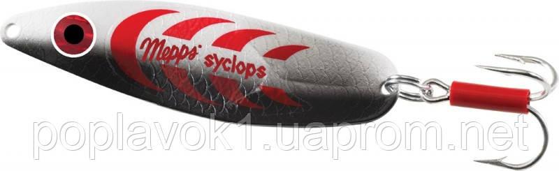 Блесна Mepps Syclops (серебреный/красный  1/12г)