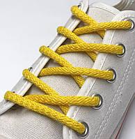 Шнурки простые круглые желтые 120 см (Толщина 5 мм), фото 1