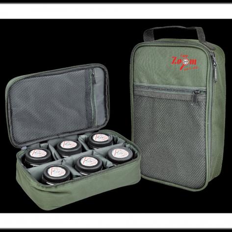 Сумка для насадок і діпов, в комплекті 6 банок Carp Zoom Dip Bag CZ3475, фото 2