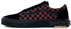 Мужские кеды Vans Old Skool Black Red Tile, Ванс Олд Скул, Ванс Олд Скул