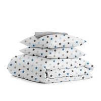 Комплект двуспального постельного белья STAR BLUE GREY DROP