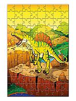 """Детский пазл с динозавром """"Спинозавр""""  формата А4  (104 или 120 элементов)"""