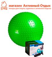 М'яч-масажер для фітнесу PowerPlay 4002 55см Салатовий + насос