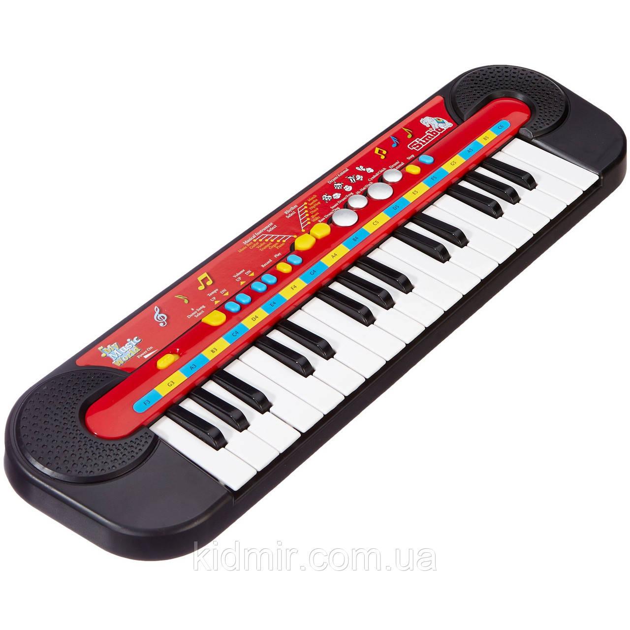 Електросінтезатор Піаніно музична іграшка 50 х 14 Simba 6833149