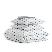 Комплект постельного белья евро STAR BLUE GREY