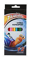 """Цветные карандаши """"Turbo""""  12 цветов TU06101"""