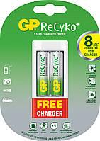 Аккумуляторная батарейка GP ReCyko+ AA 1.2V 2100mAh 2шт + Зарядное устройство GP GPU211 (210AAHCBF-UE2)