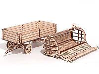 Конструктор деревянный Прицеп для трактора. Wood trick пазл. 100% ГАРАНТИЯ КАЧЕСТВА!!! (Опт,дропшиппинг)