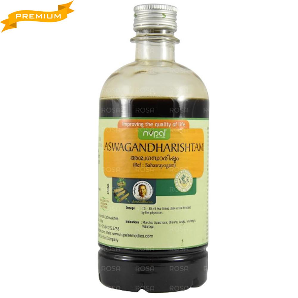 Ашвагандха ришта (Aswagandharishtam, Nupal Remedies), 450 мл - омолаживающее, дающее силу растение Аюрведы
