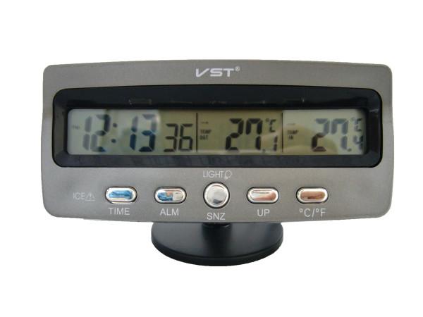 Автомобильные часы VST-7045 с датчиком температуры