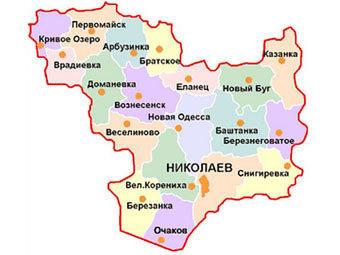 Карта николаевской области