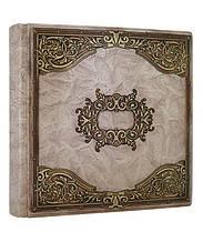 """Книга почесних гостей в шкіряній палітурці з художнім тисненням позолоченим по периметру """"Да Вінчі"""""""