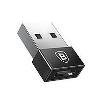 Переходник Baseus Exquisite USB to Type-C Черный (CATJQ-A01)