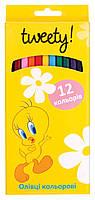 """Цветные карандаши """"Tweety""""  12 цветов TU05101"""