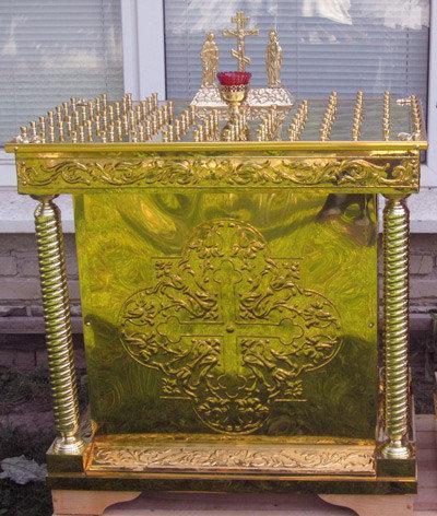 Панихидный стол  на 104 свечи