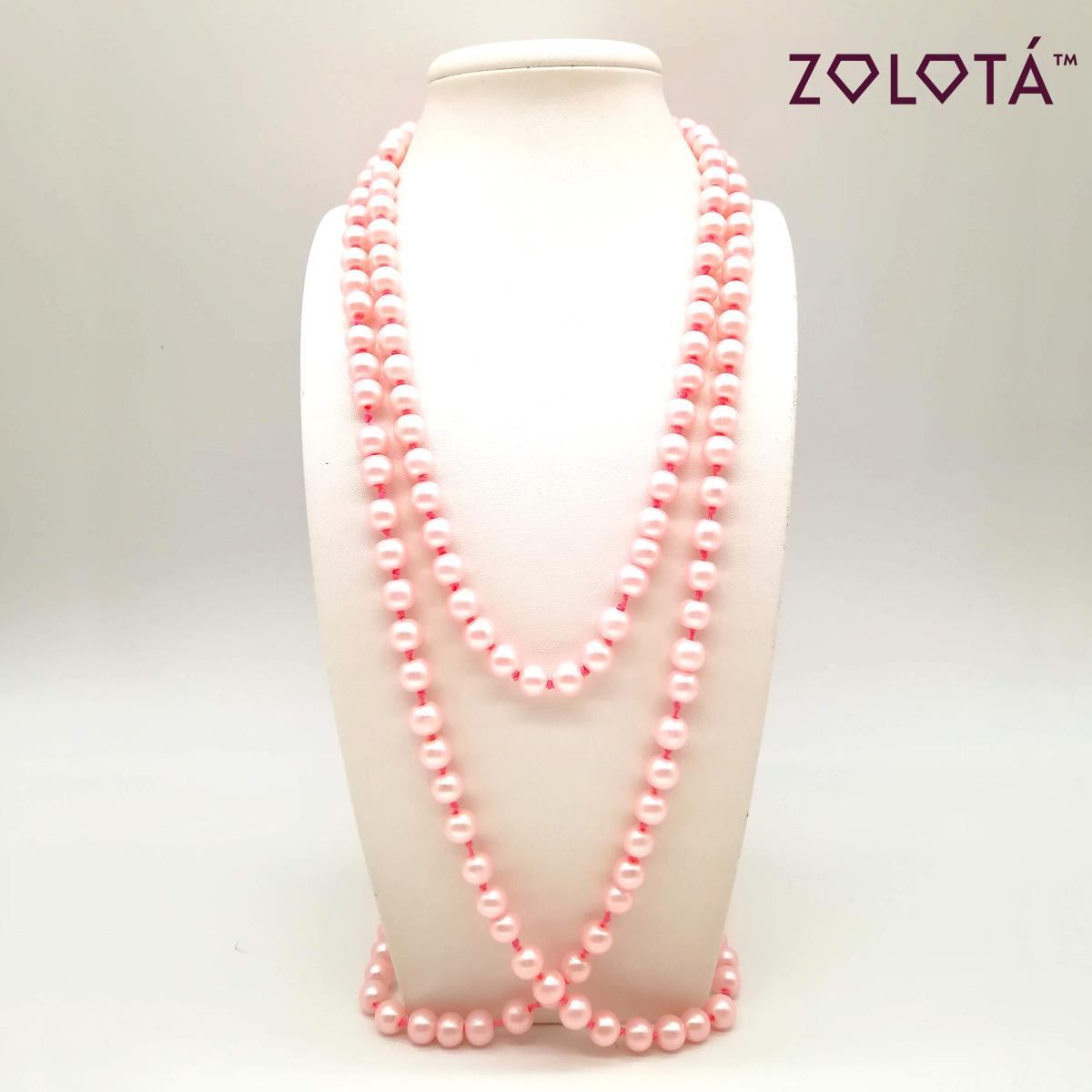Бусы из майорки розового цвета, 150 см, БС00063 (1)
