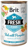 Консервы для собак Brit Fresh Fish With Pumpkin рыба, тыква 400 гр (100162)