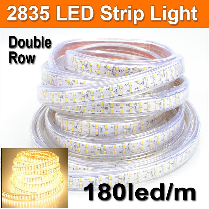 Dilux - Светодиодная лента SMD 2835 180шт/м IP67 220В теплая белая