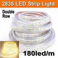 Dilux - Світлодіодна стрічка SMD 2835 180шт/м IP67 220В тепла біла