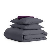 Комплект двуспального постельного белья сатин GREY VIOLET-S