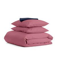 Комплект двуспального постельного белья сатин PUDRA BLUE-S