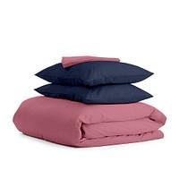Комплект двуспального постельного белья сатин PUDRA BLUE-P