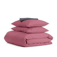 Комплект двуспального постельного белья сатин PUDRA GREY-S