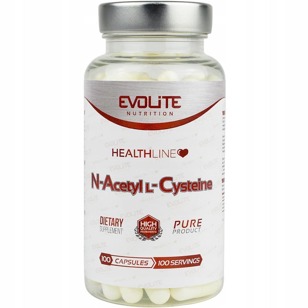 N-ацетил-L-цистеин Evolite Nutrition N-Acetyl L-Cysteine  600mg  100caps