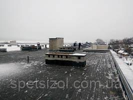 Зимняя реконструкция кровли лицея №3 в г. Богодухов.