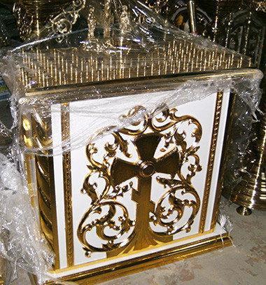 Панихидный стол с золочением 115 на 75см