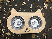 Подставка с двумя мисками для котика, фото 1