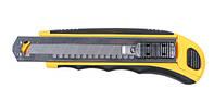 Нож 8211111 Sigma с сегментным лезвием 18 мм, прорезиненный корпус + 8 лезвия