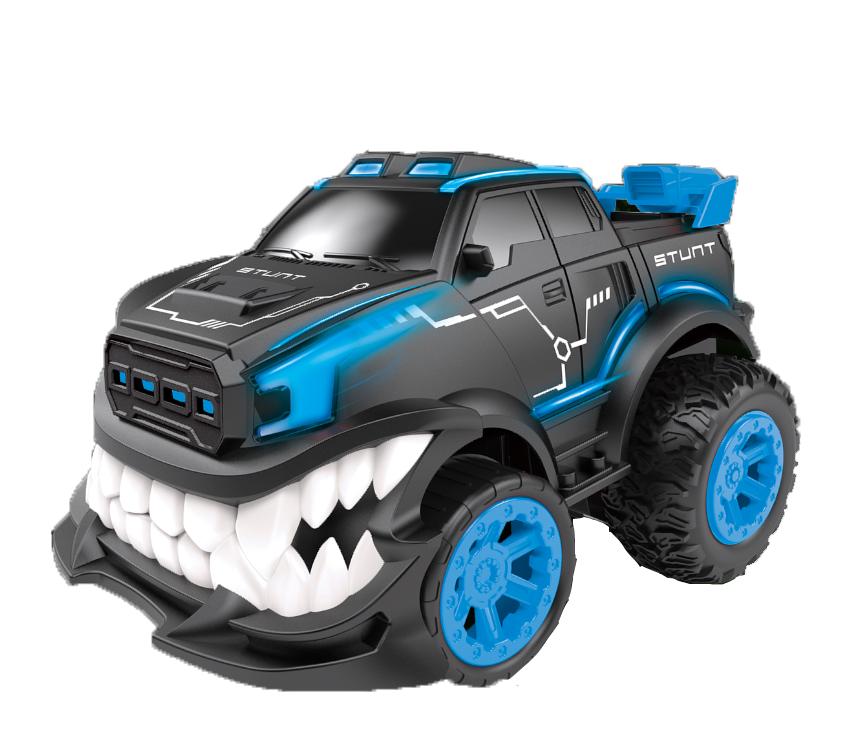 Маневрена Гоночна Машина Angry Car на Радіоуправлінні Блакитна + підсвітка, поворот на 360 градусів