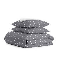 Комплект постельного белья евро STARS WHITE GREY
