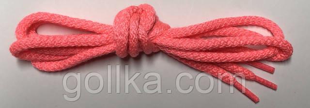 Шнурок розовый круглый