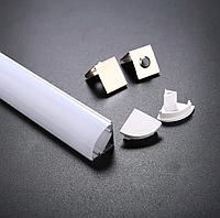 Профиль угловой анодированный для светодиодной ленты,линейки. ХН-076. Премиум. Комплект 2 метра