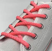 Шнурки простые круглые розовые 120 см (Толщина 5 мм), фото 1