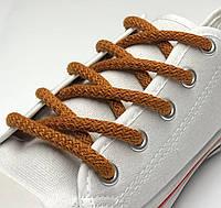 Шнурки простые круглые рыжие 100 см (Толщина 5 мм), фото 1