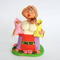 Глиняная статуэтка. Мамочка. Украинский сувенир