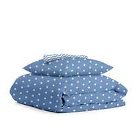 Комплект полуторного постельного белья STARS BLUE /зигзаг голубой/