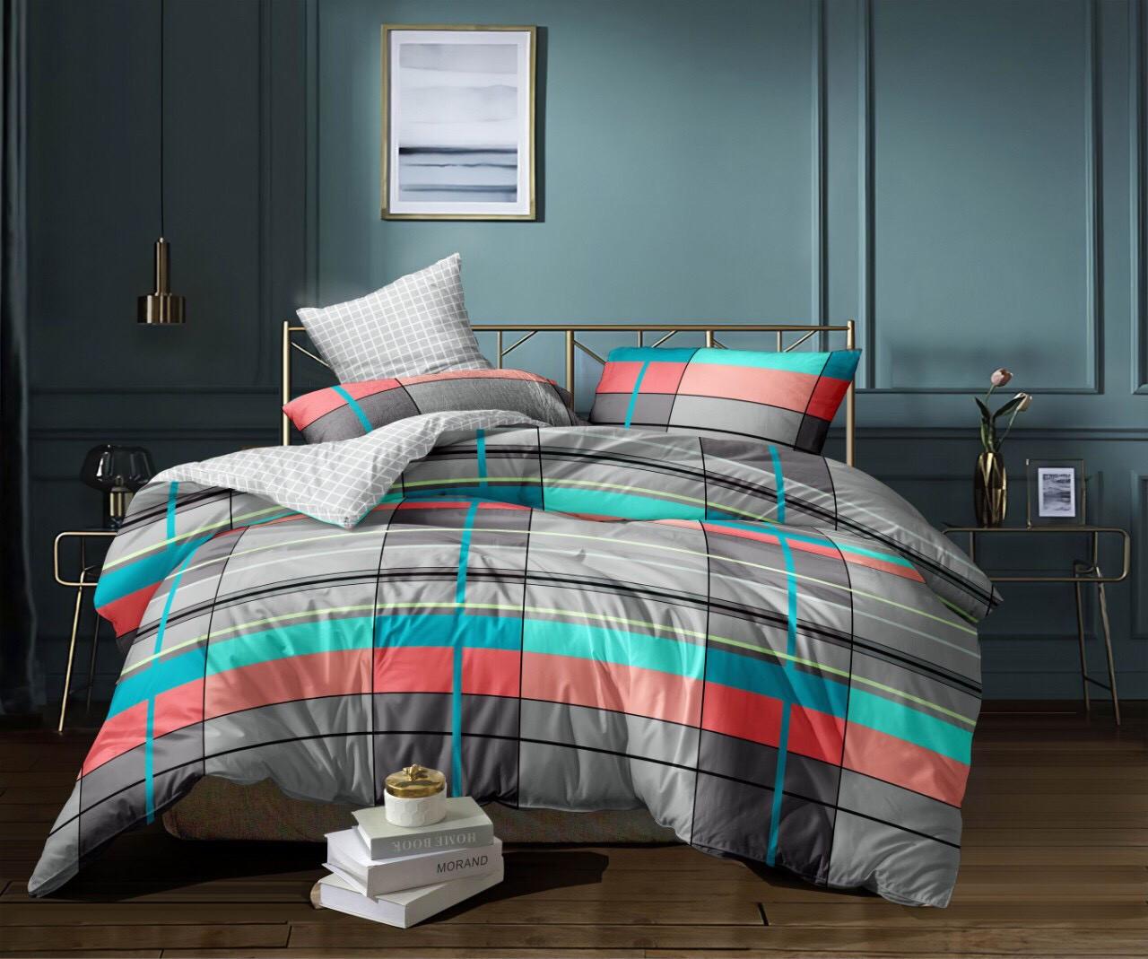 Двуспальный Евро комплект постельного белья из сатина (200*220 см). Акция: Бесплатная доставка!