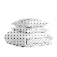 Комплект полуторного  постельного белья GREY STAR WHITE