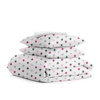 Комплект полуторного  постельного белья STAR ROSE WHITE