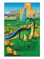 """Детский пазл """"Динозавр Алозавр"""""""