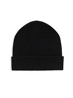 Женская черная кашемировая шапка Saks Fifth Avenue