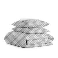 Комплект семейного постельного белья BRILL GREY WHITE