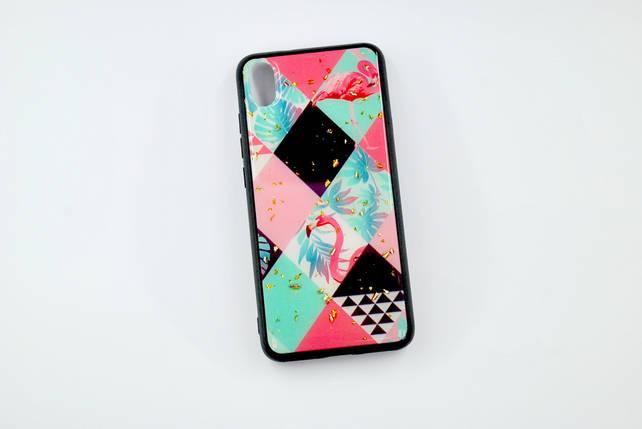 Чехол Xiaomi Redmi 7A Silicone Glass Marble Glitter (A17), фото 2