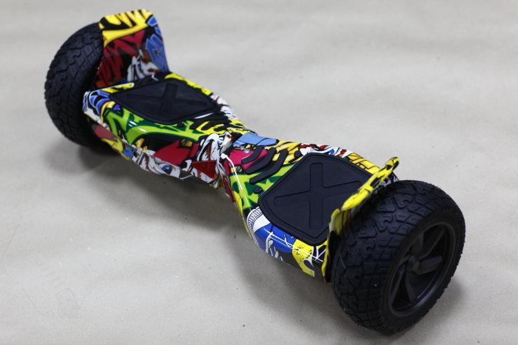 Гироборд 8.5 дюймов Hummer граффити(Led, Bluetooth, самобаланс, приложение к смартфону)