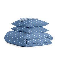 Комплект семейного постельного белья STARS BLUE ZIGZAG