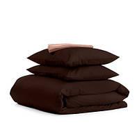 Комплект семейного постельного белья сатин CHOCOLATE BEIGE-S